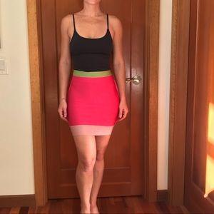 Herve leger bandage mini skirt small pink
